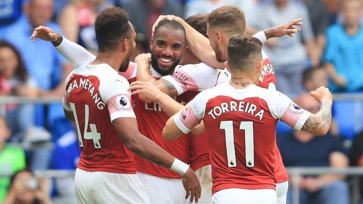Lacazette's late goal helped Arsenal overcome their defensive blunders and win at Cardiff.