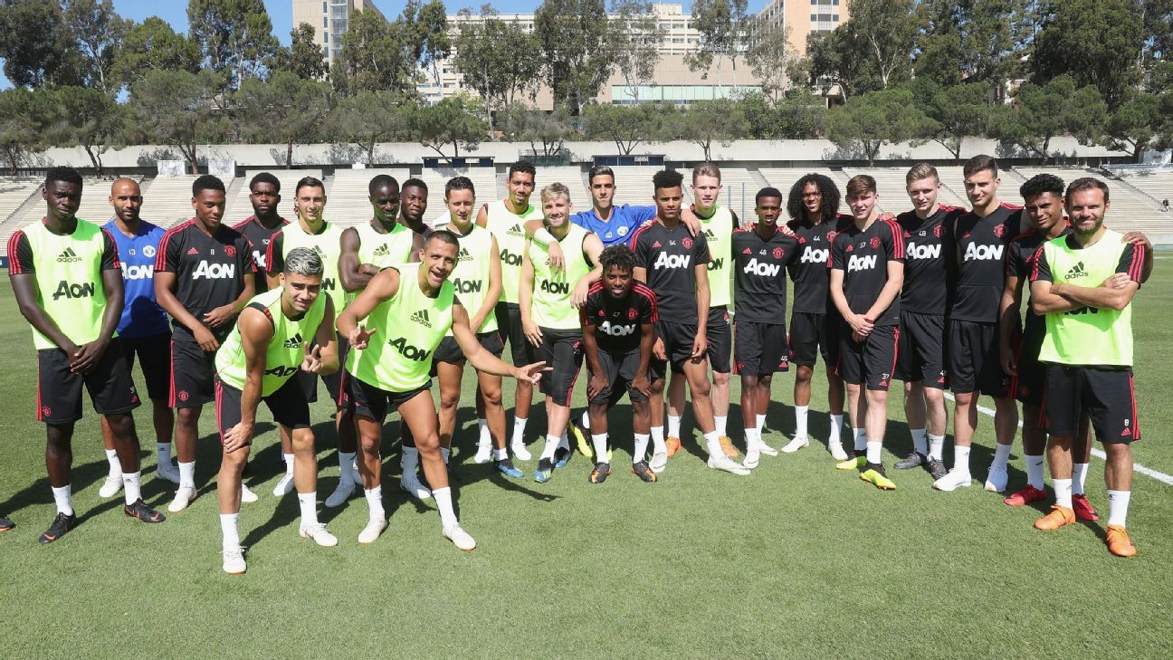 Manchester United's preseason squad featured several young players as many stars were recovering after the World Cup
