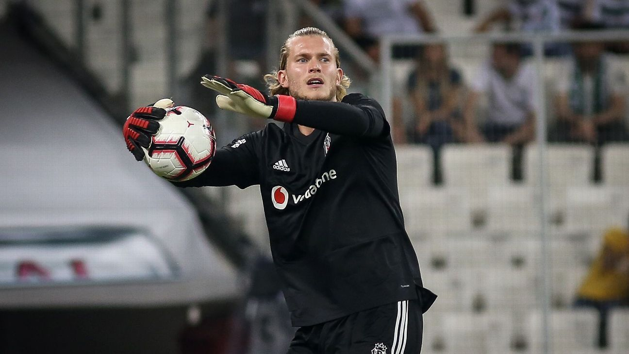 Besiktas' Loris Karius ahead of the Turkish Super Lig game against Bursaspor.