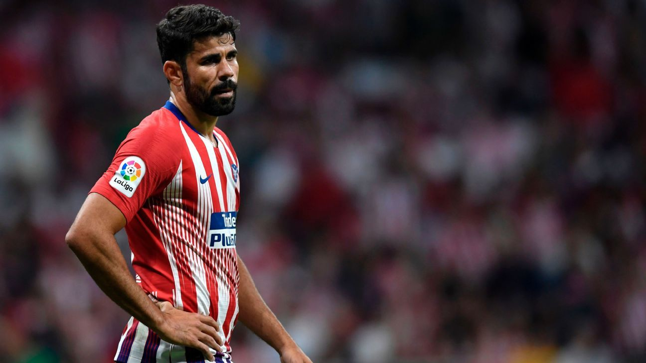 Atletico Madrid's Diego Costa during a La Liga game against Rayo Vallecano.