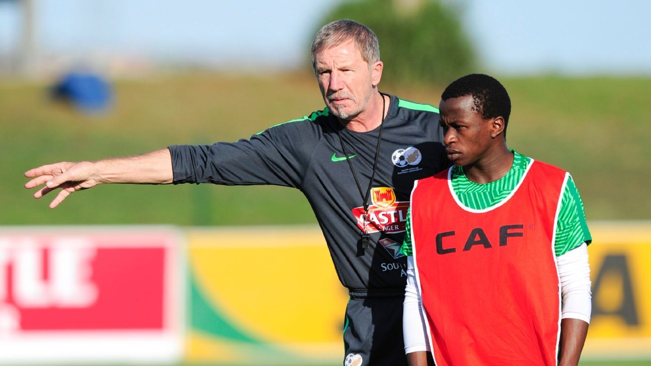 Maritzburg United youngster Siphesihle Ndlovu is among the inexperienced Bafana Bafana squad members who Stuart Baxter is being forced to show the ropes