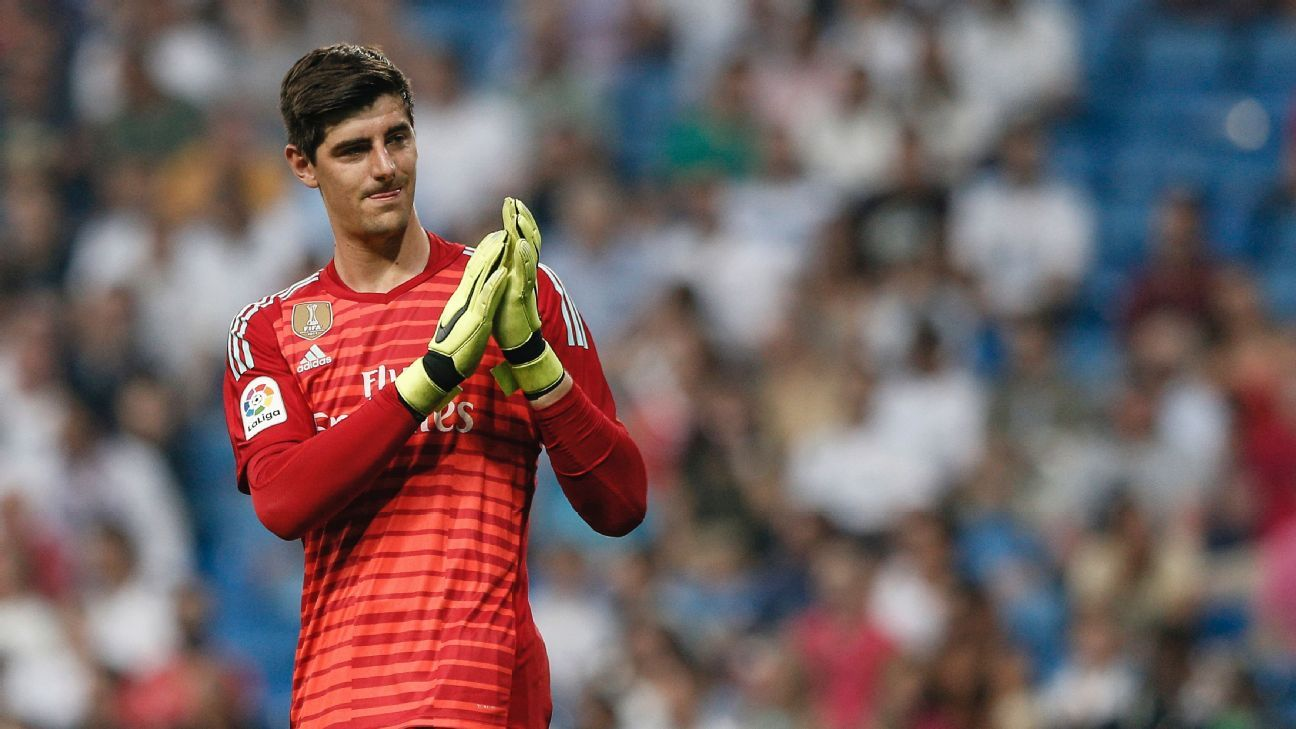 Real Madrid goalkeeper Thibaut Courtois during his debut against Leganes.