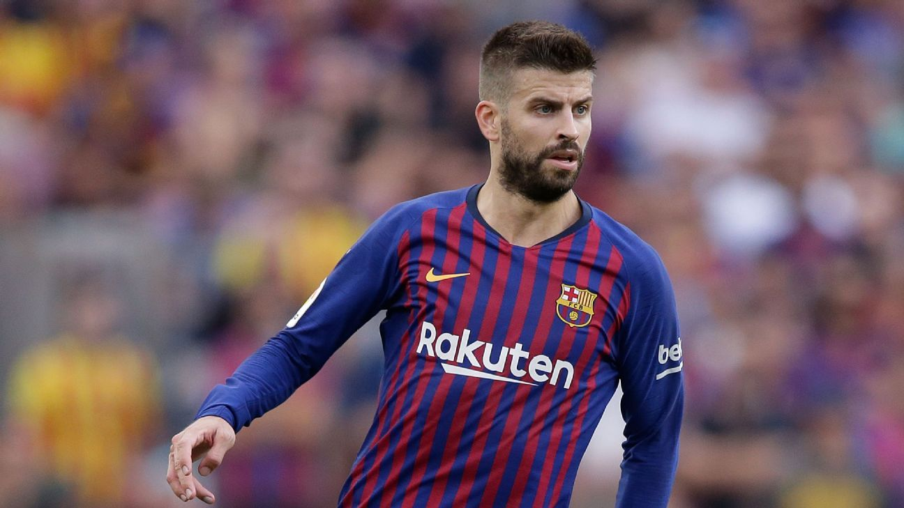 Gerard Pique in action for Barcelona