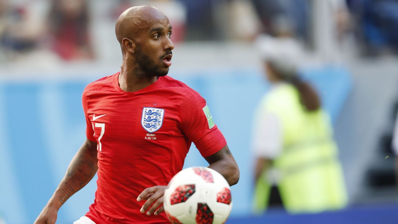Fabian Delph in action for England at the World Cup