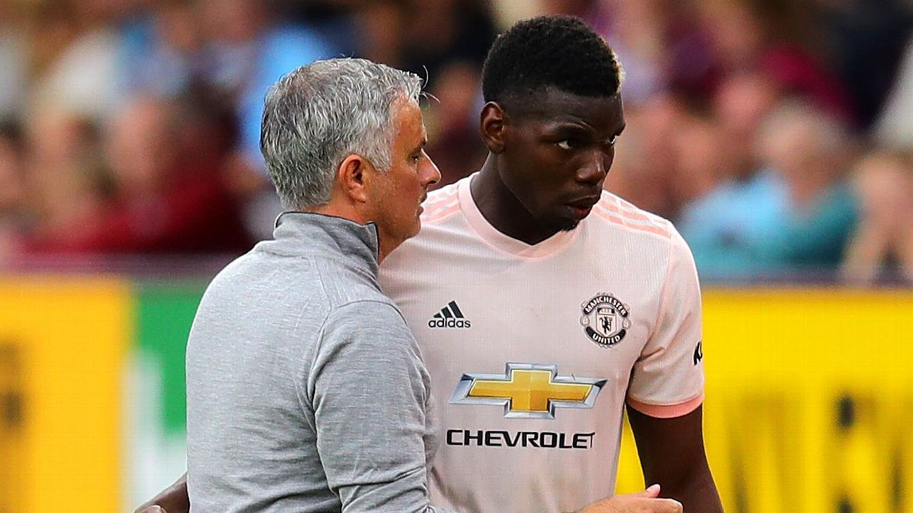 Manchester United manager Jose Mourinho and midfielder Paul Pogba have had their differences.