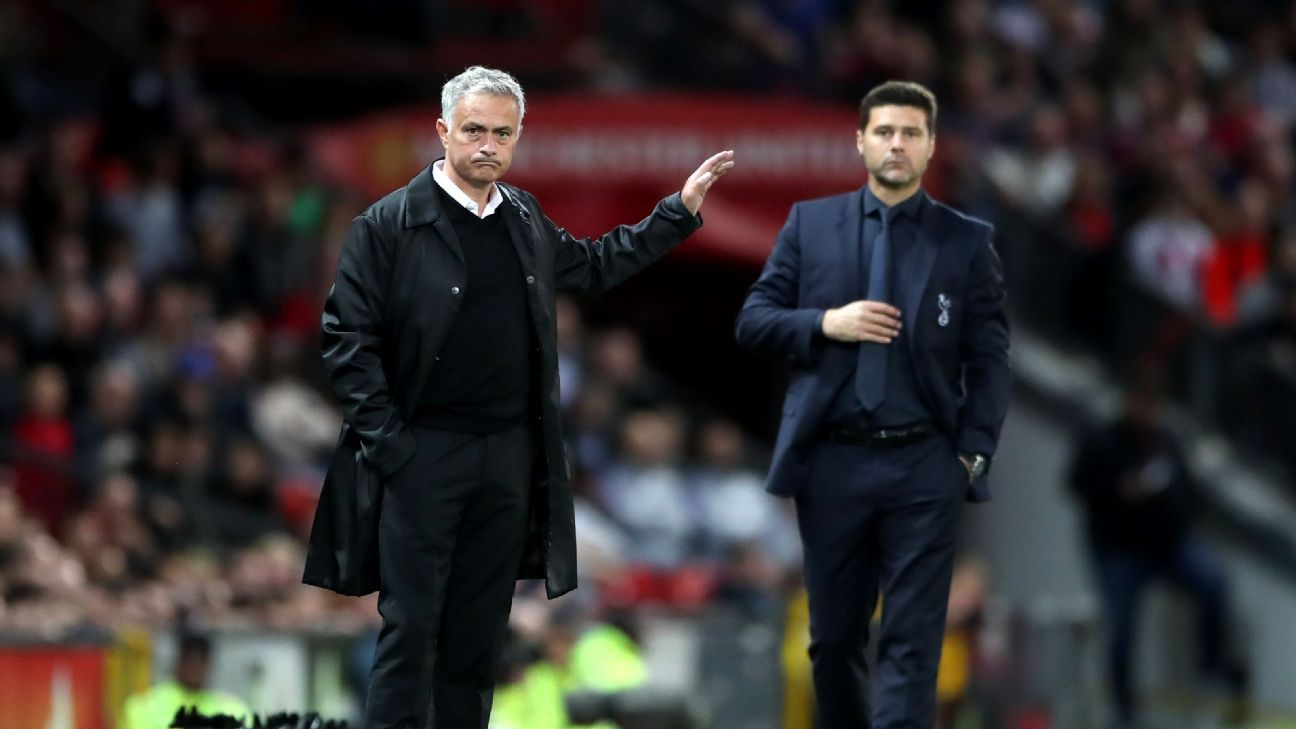 Man United manager Jose Mourinho and Tottenham boss Mauricio Pochettino seem to get very different treatment.