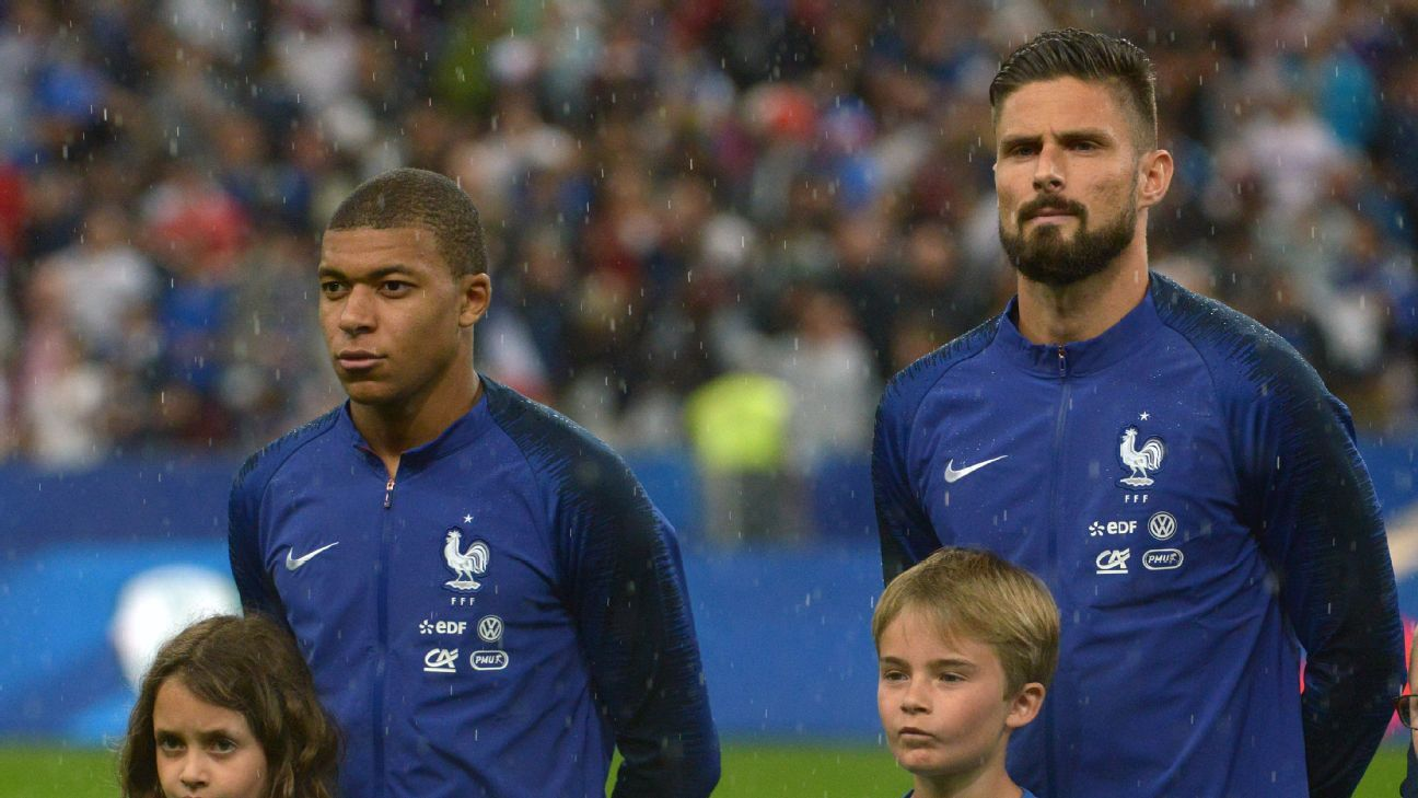 Kylian Mbappe and Olivier Giroud led the line as France won the World Cup in Russia.