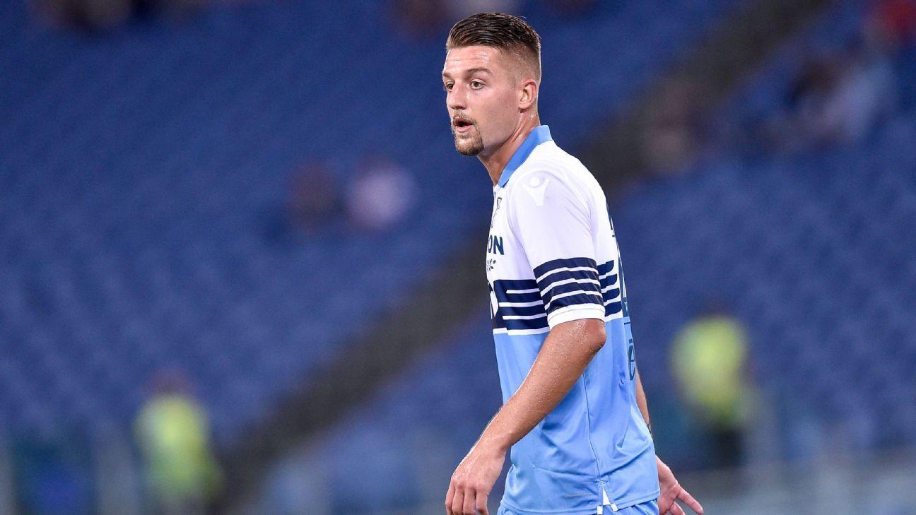 Lazio midfielder Sergej Milinkovic-Savic