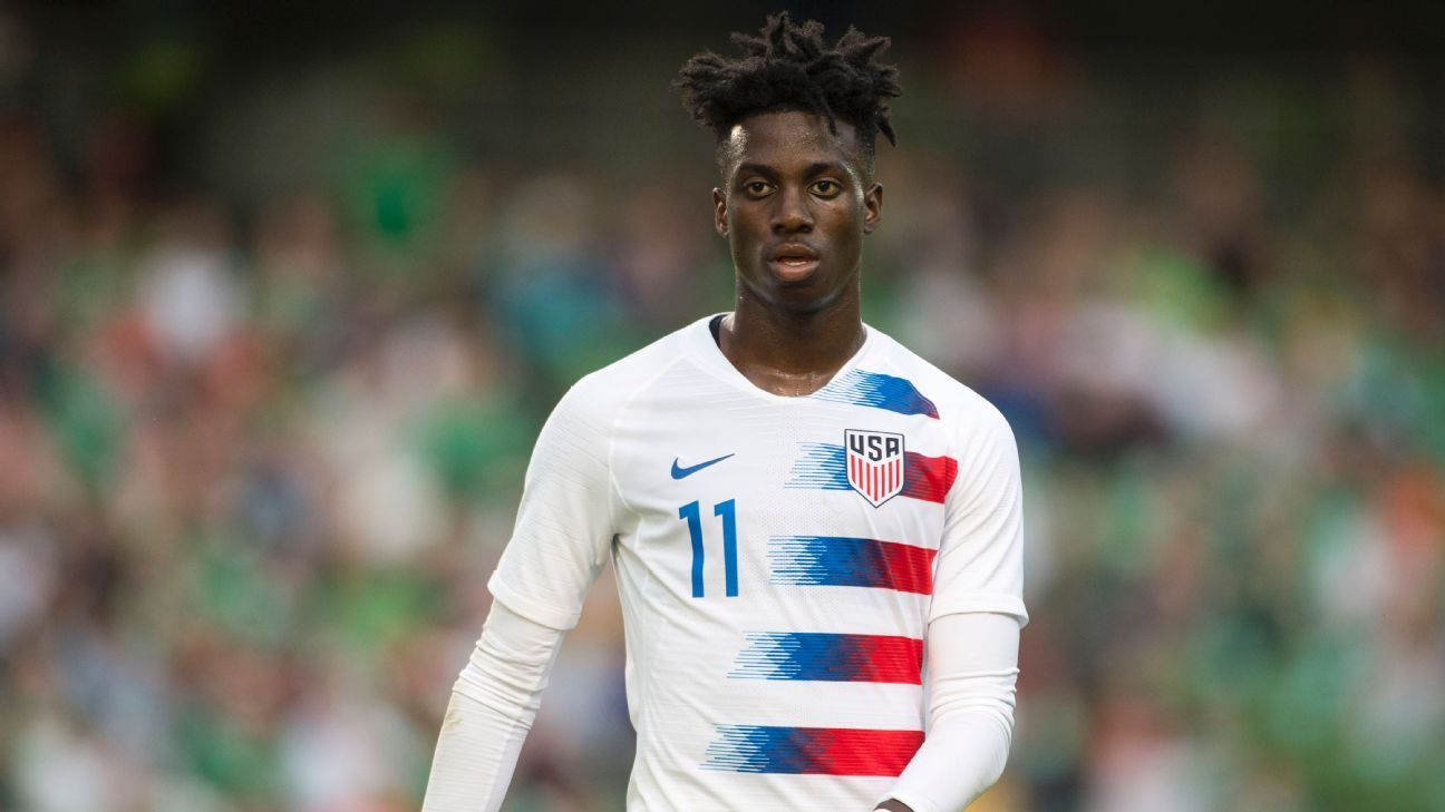 United States and PSG forward Timothy Weah.