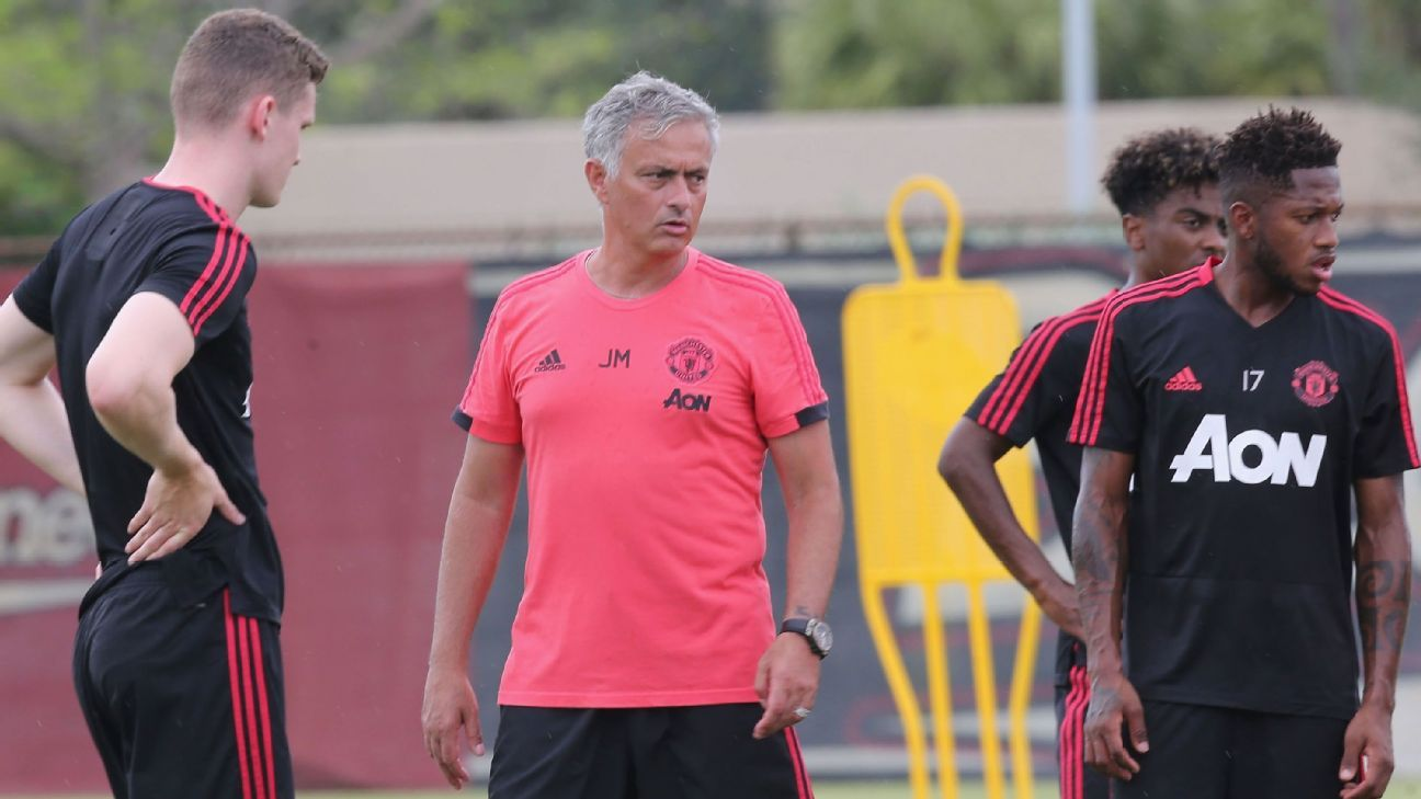 Manchester United manager Jose Mourinho had a young squad at the International Champions Cup