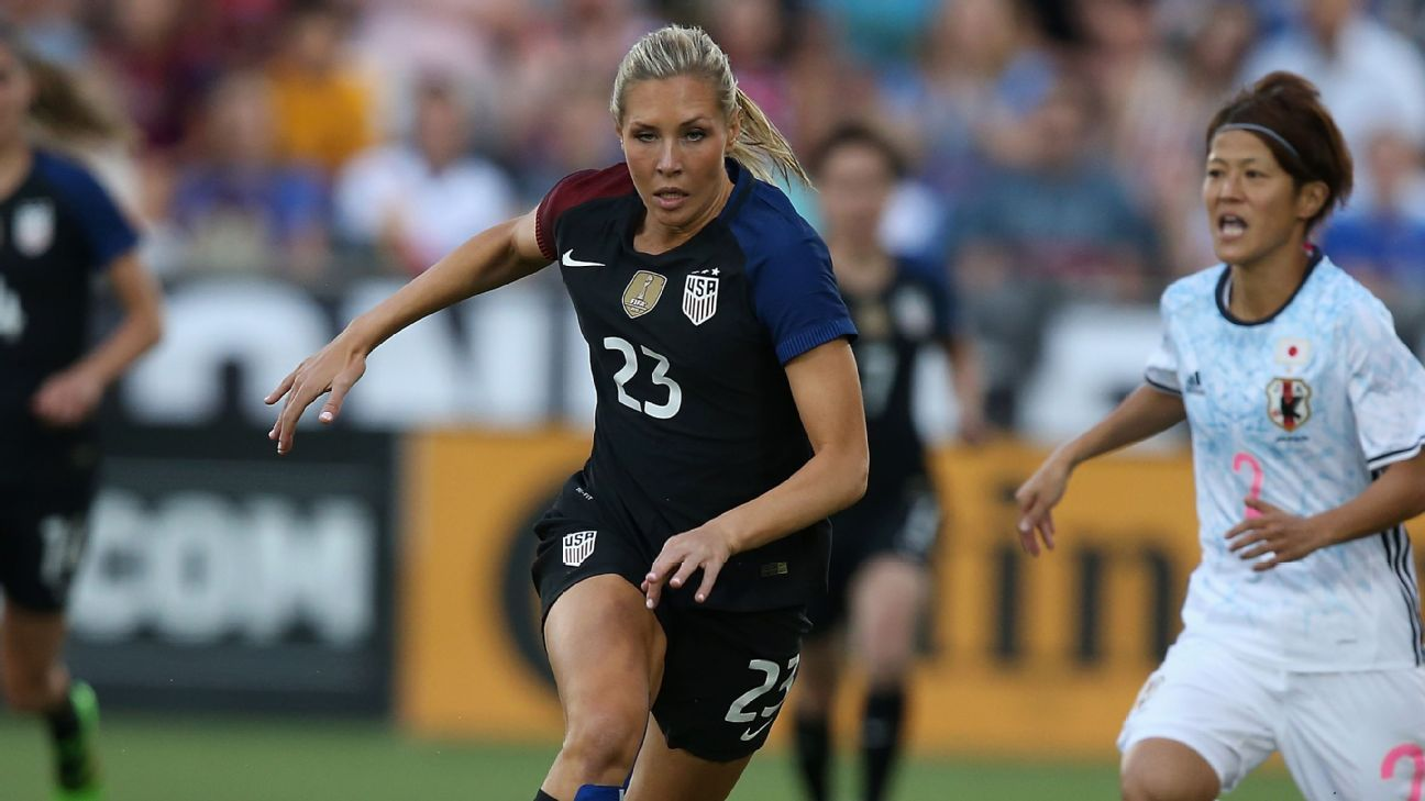 Allie Long during a U.S. match against Japan.