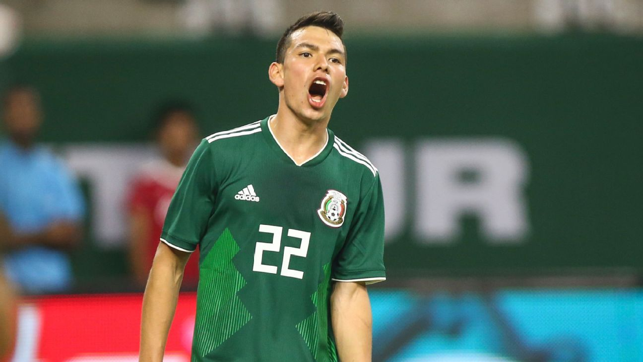 Hirving Lozano was one of the few players for Mexico to impress in the team's 4-1 loss to Uruguay.