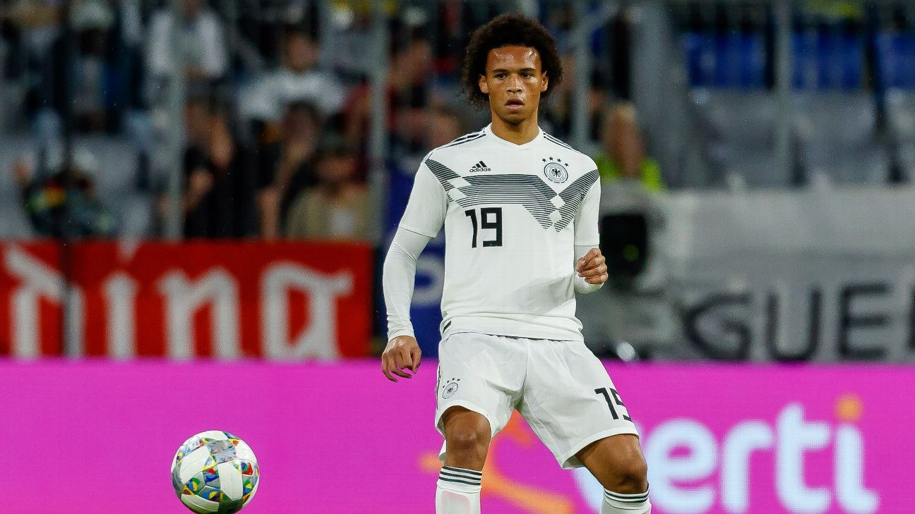 Leroy Sane in action for Germany