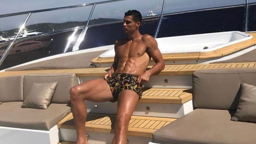 Cristiano Ronaldo posted a photo on his social media accounts of himself sunbathing