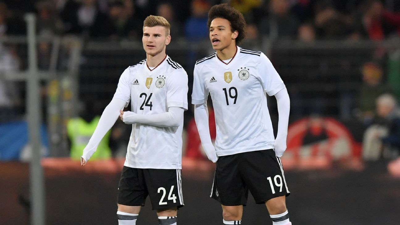 Timo Werner and Leroy Sane