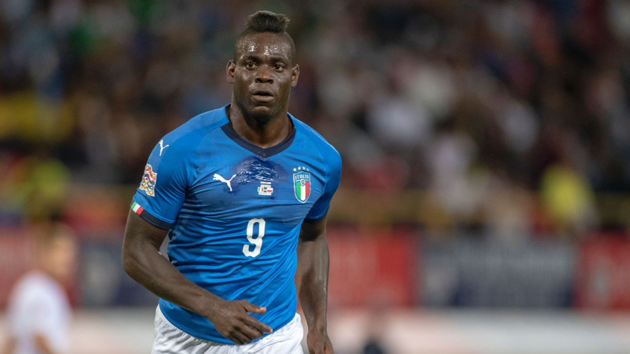 Italy's Mario Balotelli during the UEFA Nations League game against Poland.