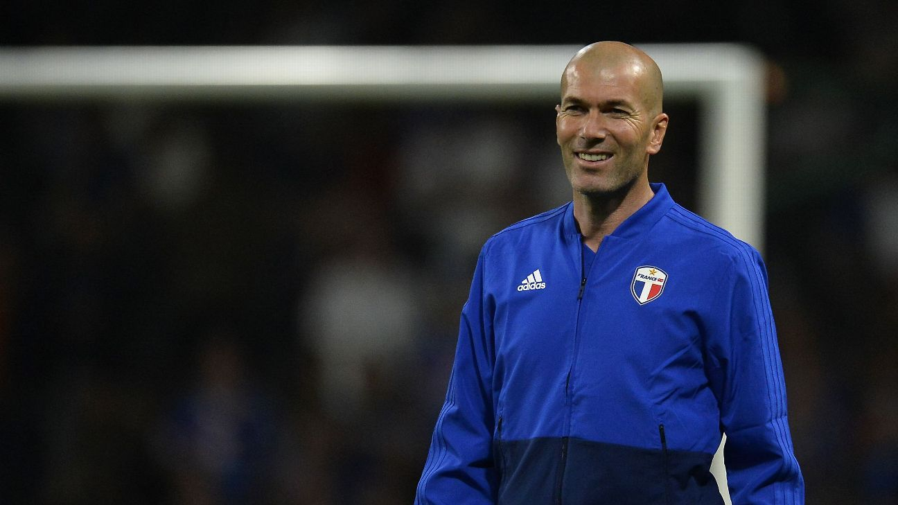 Former Real Madrid coach Zinedine Zidane before a charity match in June.