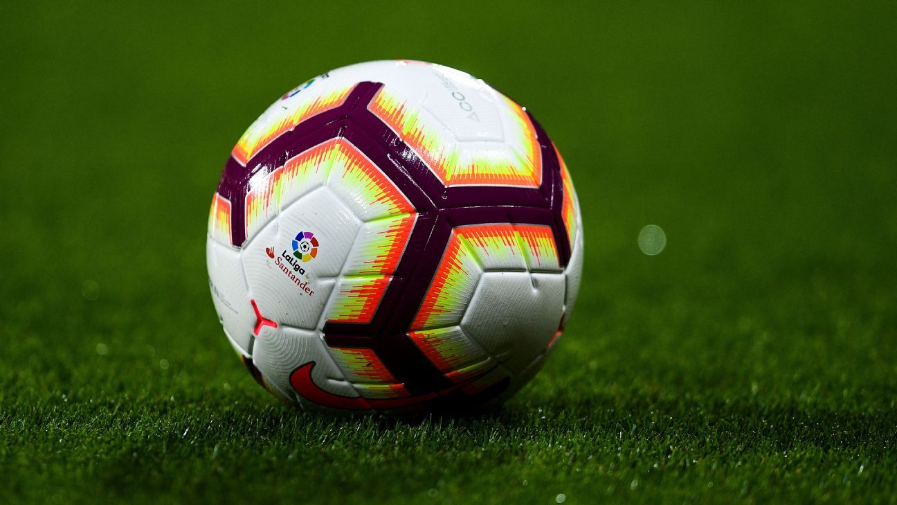 The ball during a La Liga game between Girona and Real Madrid.