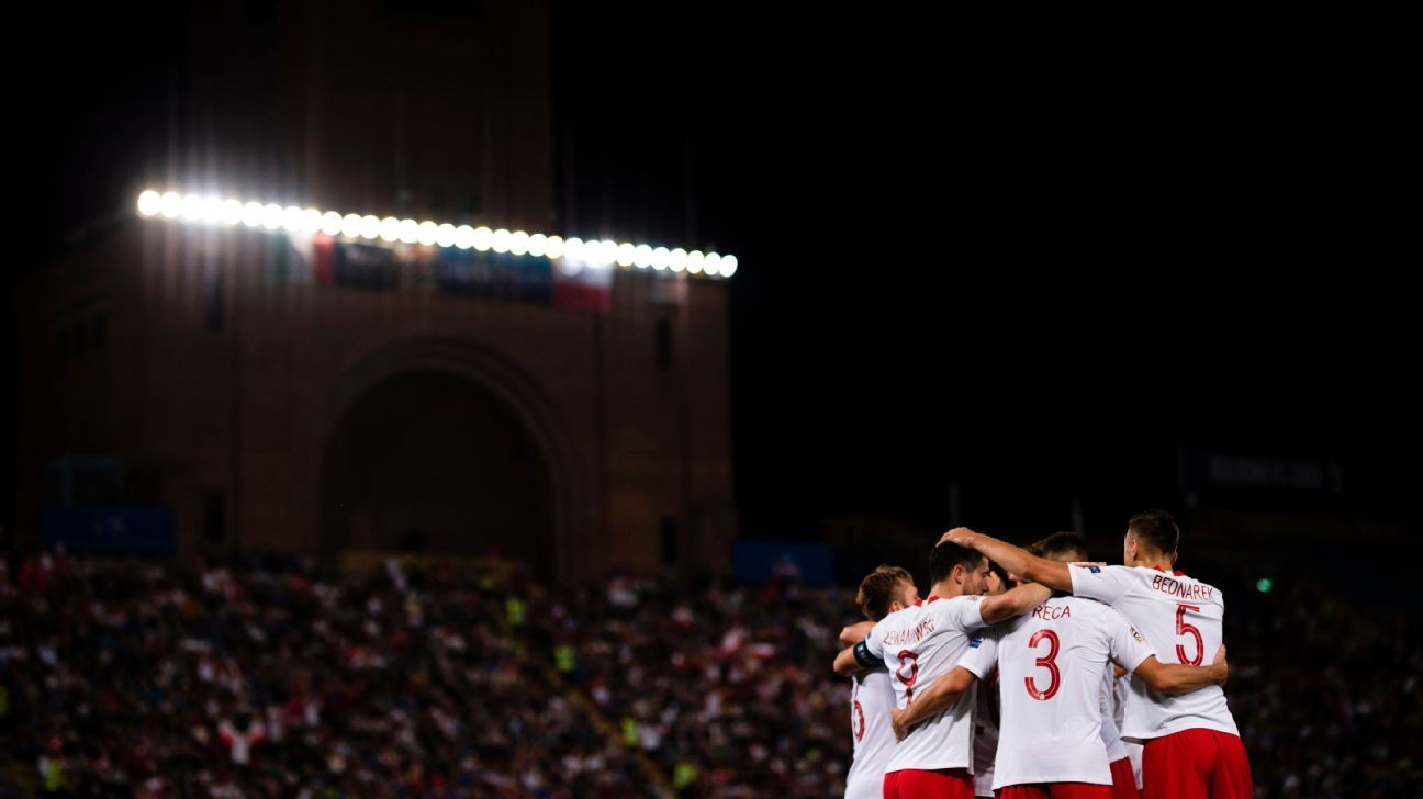 Poland drew with Italy 1-1.