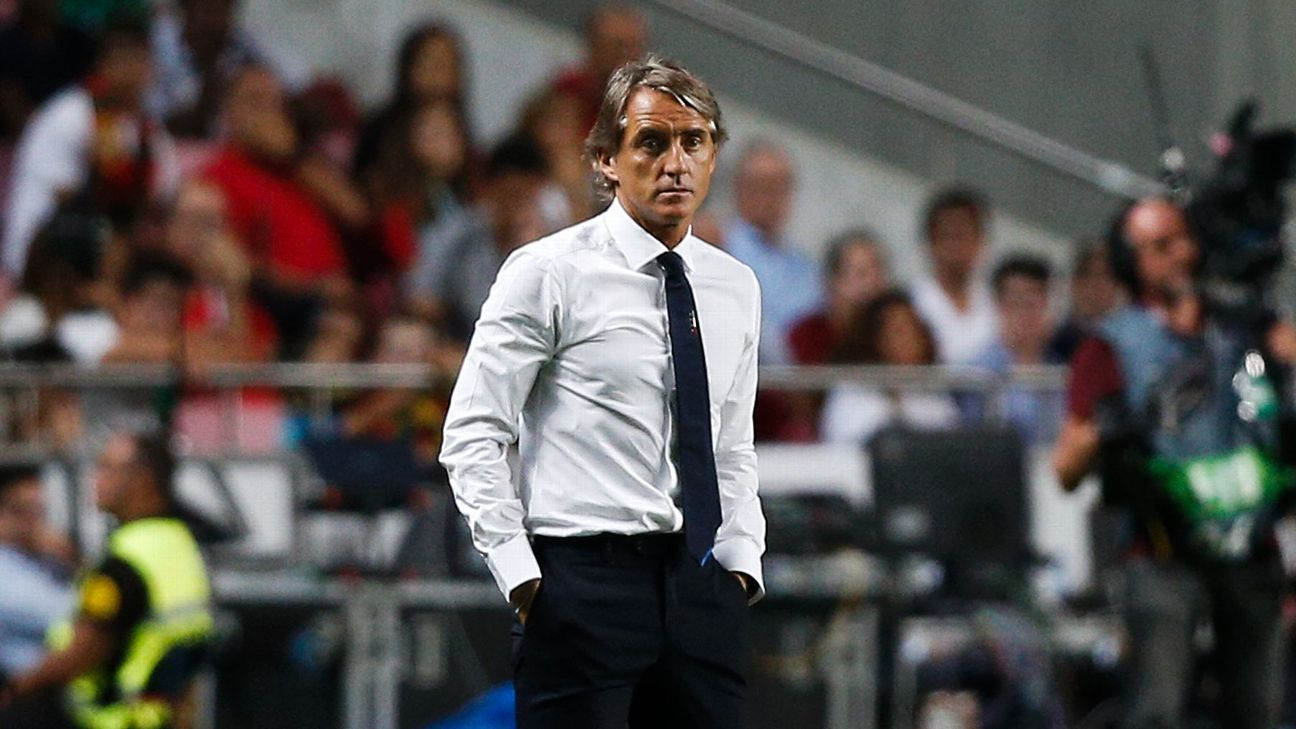 Italy's Roberto Mancini during the UEFA Nations League game against Portugal.