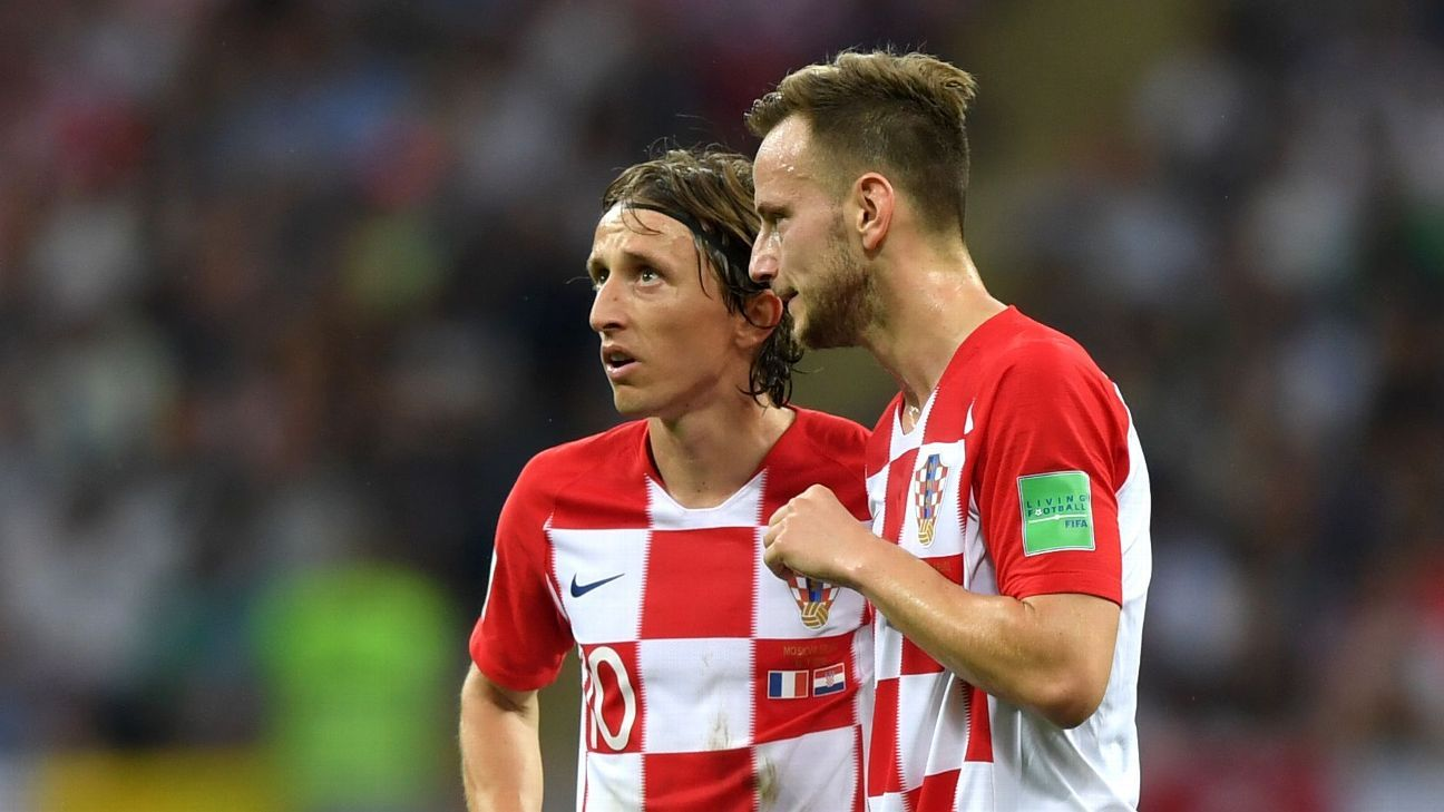 Ivan Rakitic with Luka Modric
