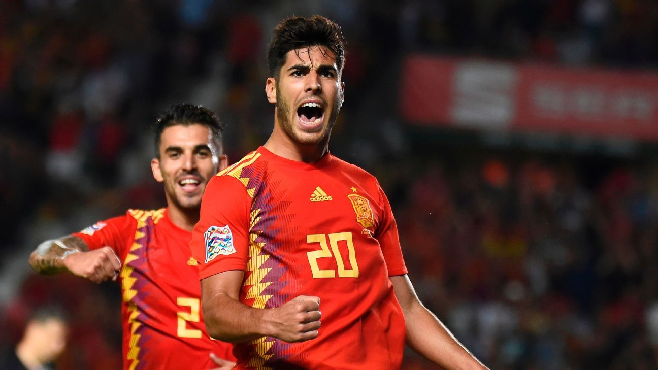Marco Asensio scored his first international goal and added two assists in Spain's dominating 6-0 win over Croatia on Tuesday night.