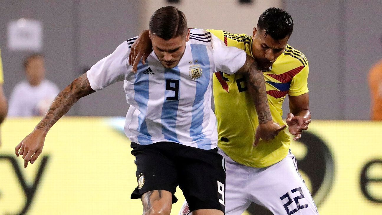 Argentina and Colombia played a tough match, particularly in a second half that saw six yellow cards.