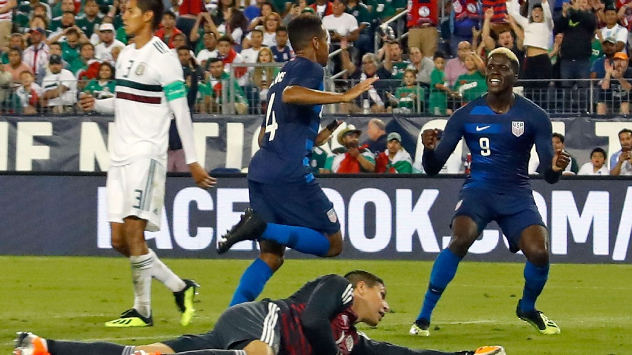 Tyler Adams, center, got the game's only goal and stood out for the U.S. in Tuesday's win over Mexico.