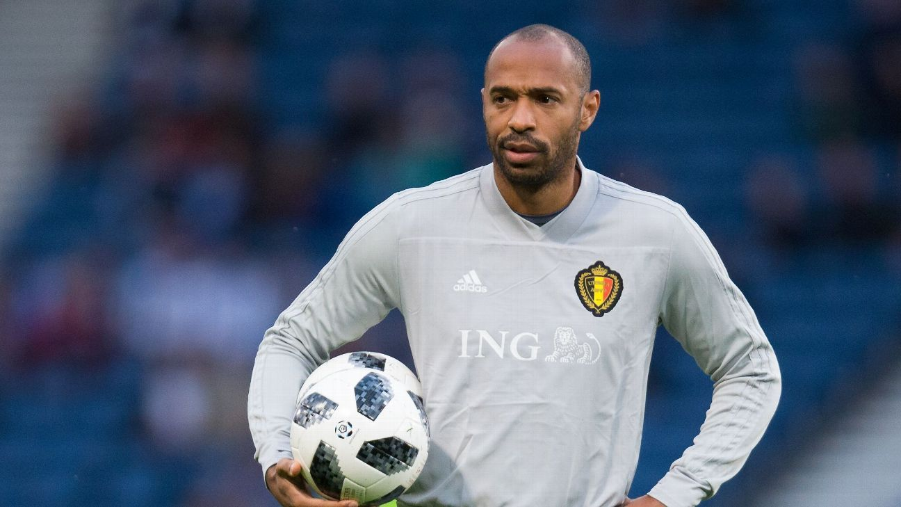 Belgium assistant coach Thierry Henry