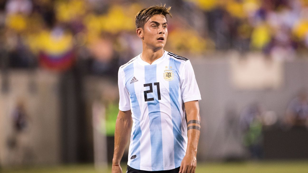 Paulo Dybala in action for Argentina