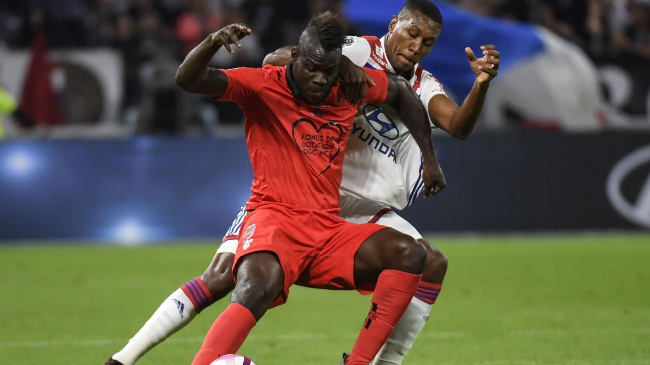 Mario Balotelli played 75 minutes against Nice.