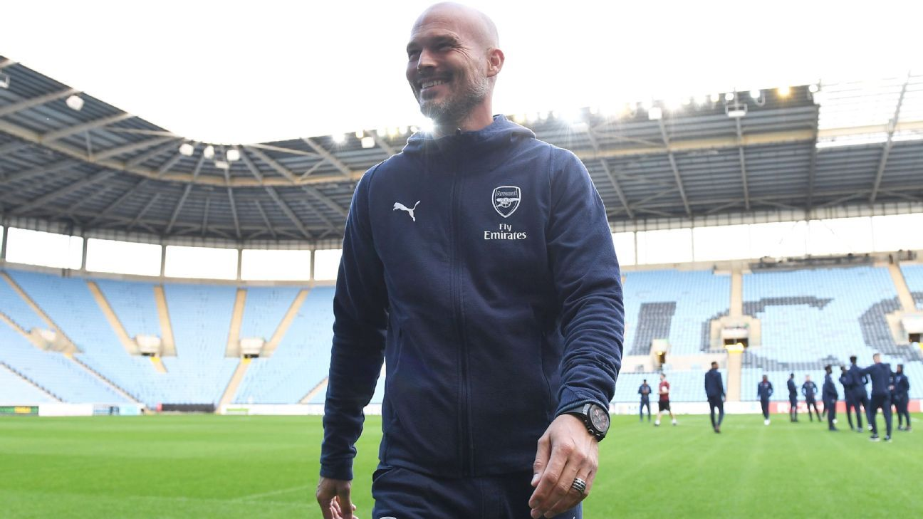 Freddie Ljungberg, pictured before Arsenal U21s' game at Coventry.