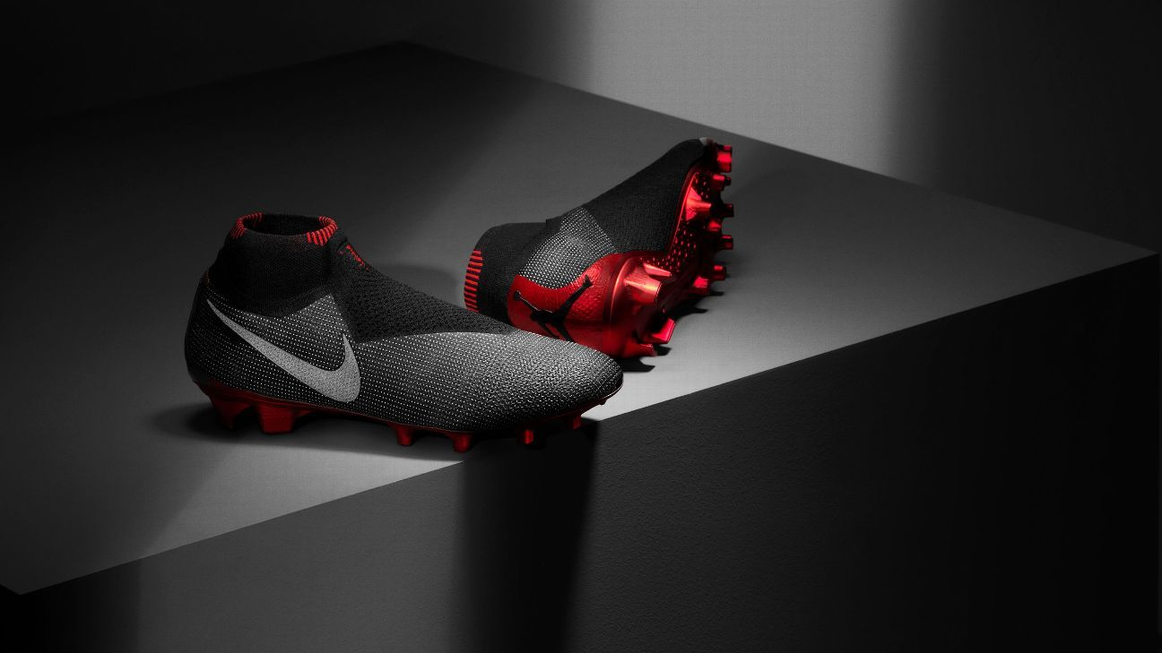 Jordan released a line of branded boots as part of a partnership with Paris Saint-Germain
