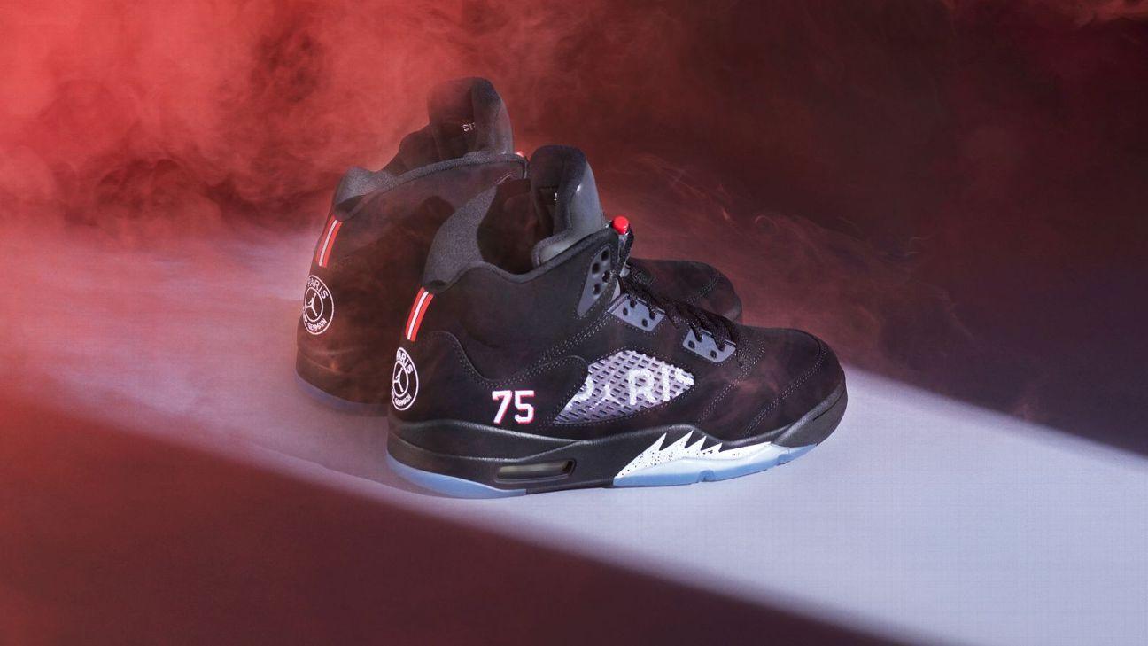 Jordan released a line of branded sneakers as part of a partnership with Paris Saint-Germain