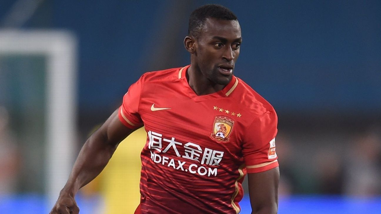 Jackson Martinez has not played for Guangzhou Evergrande since 2016