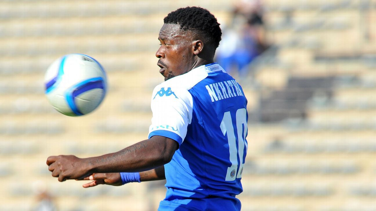 Kingston Nkhatha during his time playing for SuperSport United in the Absa Premiership