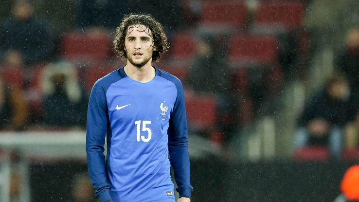 Adrien Rabiot of France looks on during the International friendly match between Germany and France in November 2017.