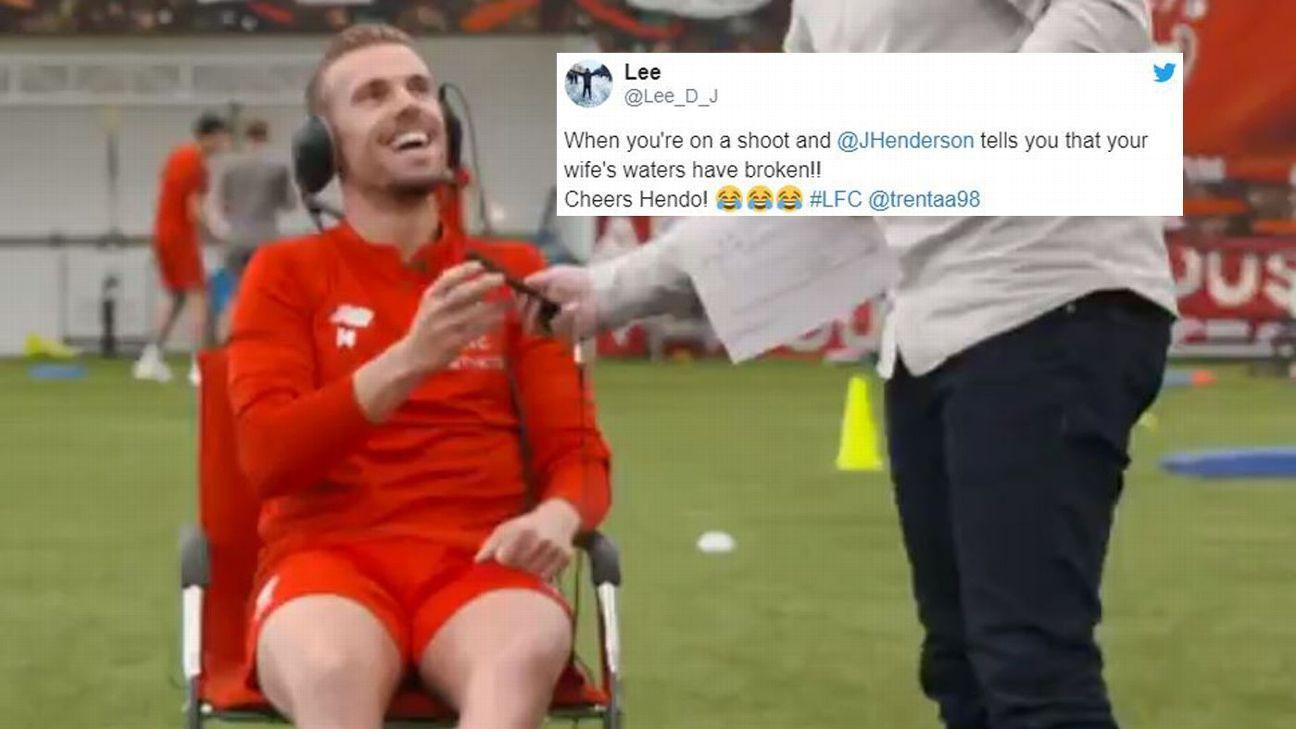 Liverpool captain Jordan Henderson broke the big news to a crew member