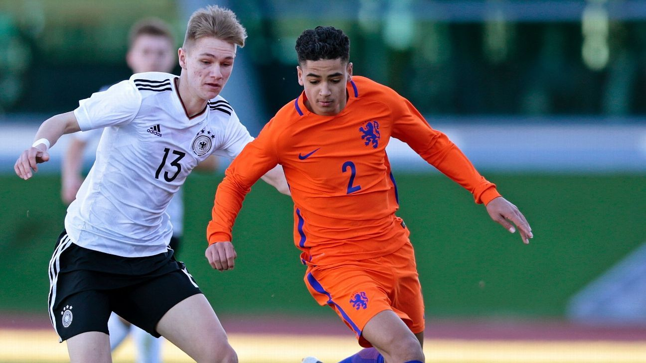 Ki-Jana Hoever (R) has joined Liverpool from Ajax.