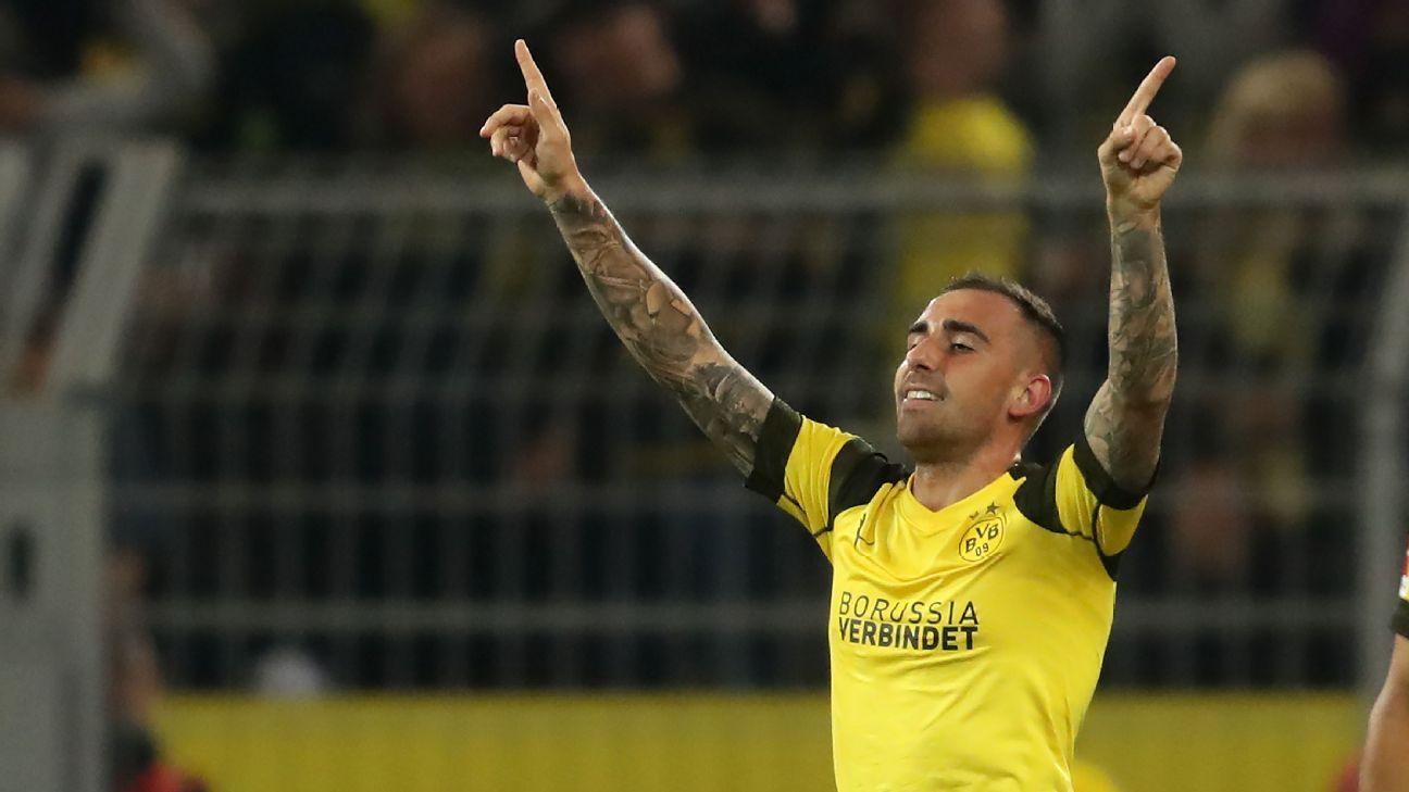 Borussia Dortmund striker Paco Alcacer scored his first Bundesliga goal on Friday.