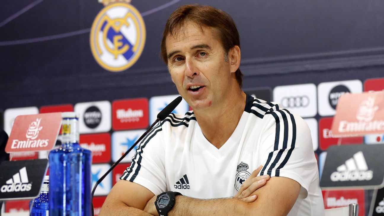 Julen Lopetegui, the coach of Real Madrid, is not in favour of La Liga games being played outside Spain.