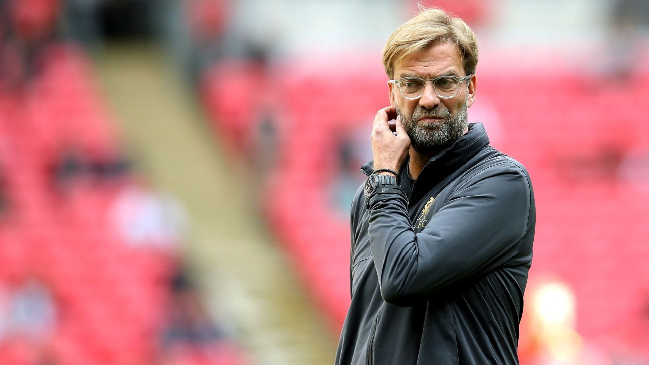 Jurgen Klopp ahead of Liverpool's Premier League game at Wembley against Spurs.