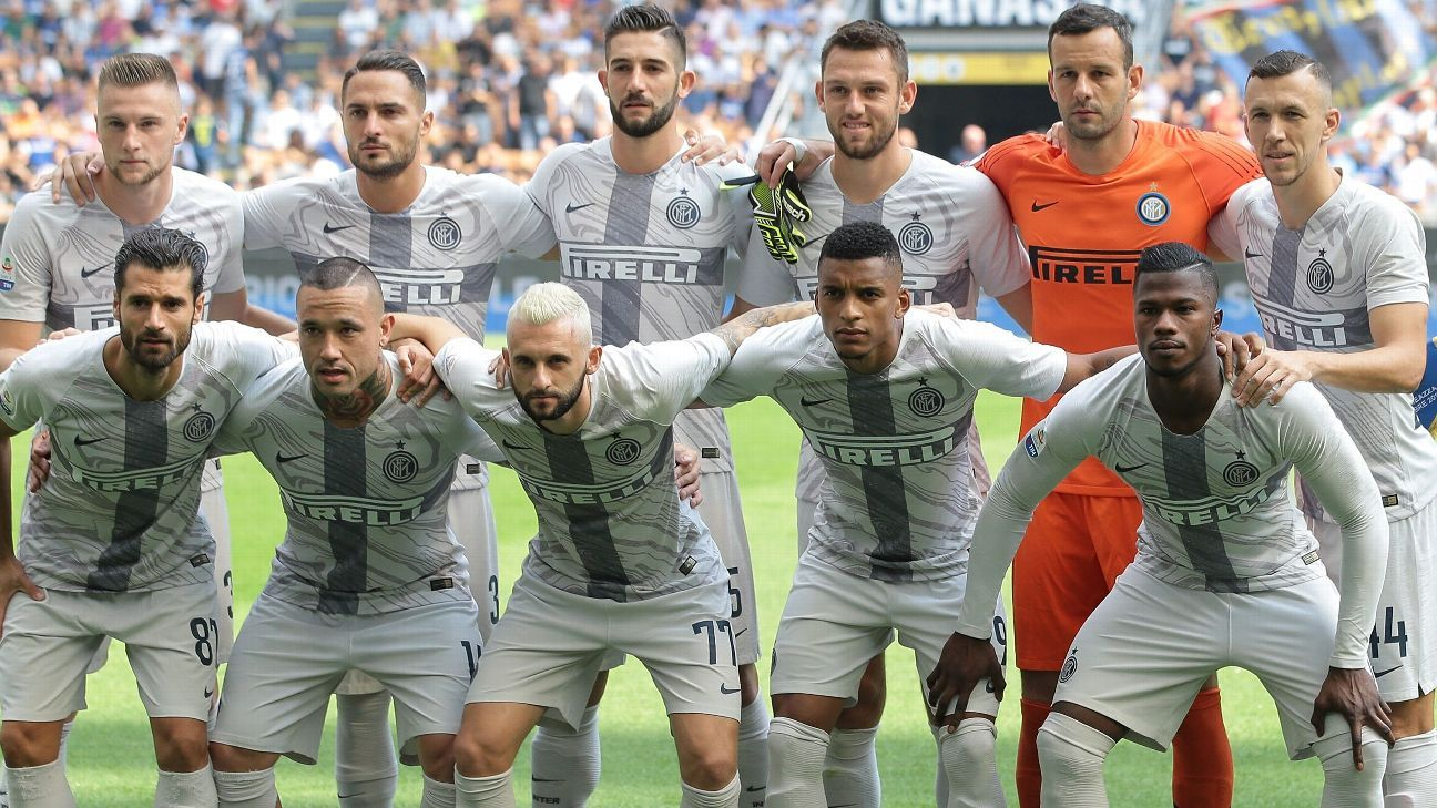 Inter Milan wore their new third kit for the Serie A game against Parma.