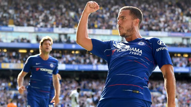 Eden Hazard scored a hat trick vs. Cardiff and already has five goals to his name this season.