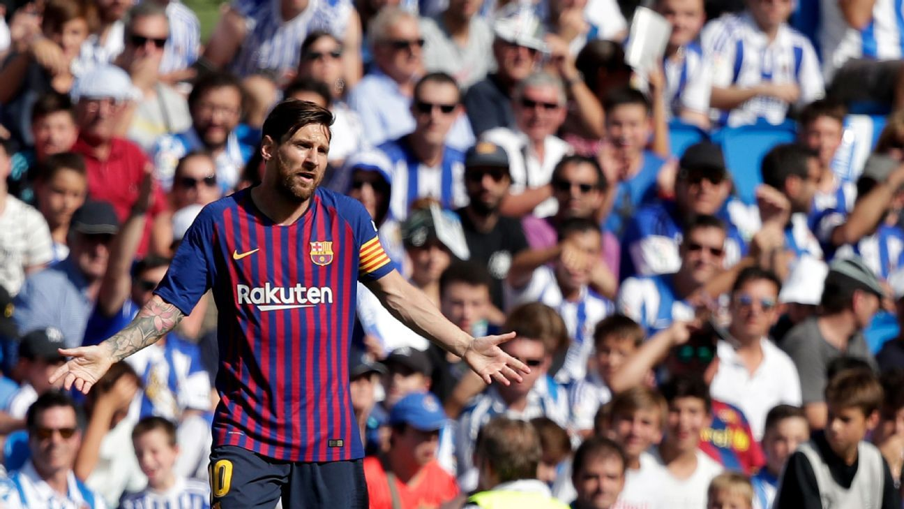 Lionel Messi had a frustrating afternoon in Barcelona's win at Real Sociedad.