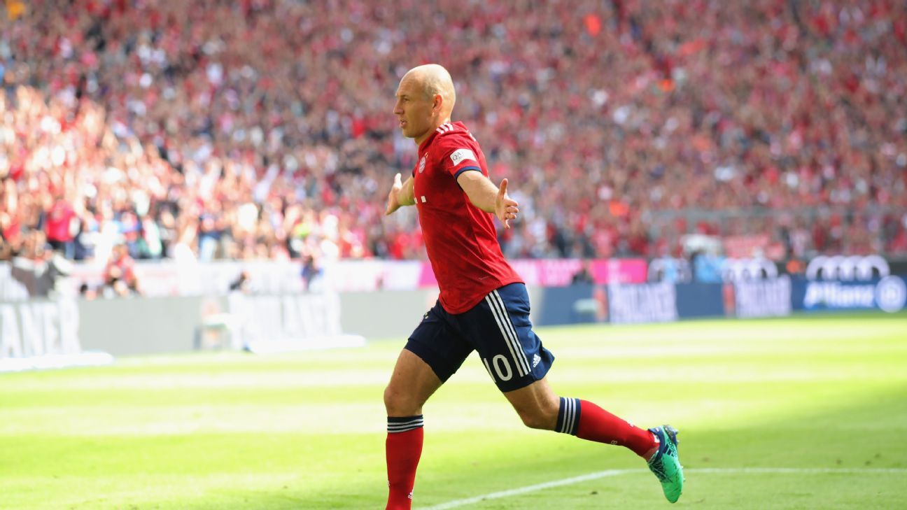 Arjen Robben,34, continues to defy Father Time and delivered a stunning a goal vs. Bayer Leverkusen.