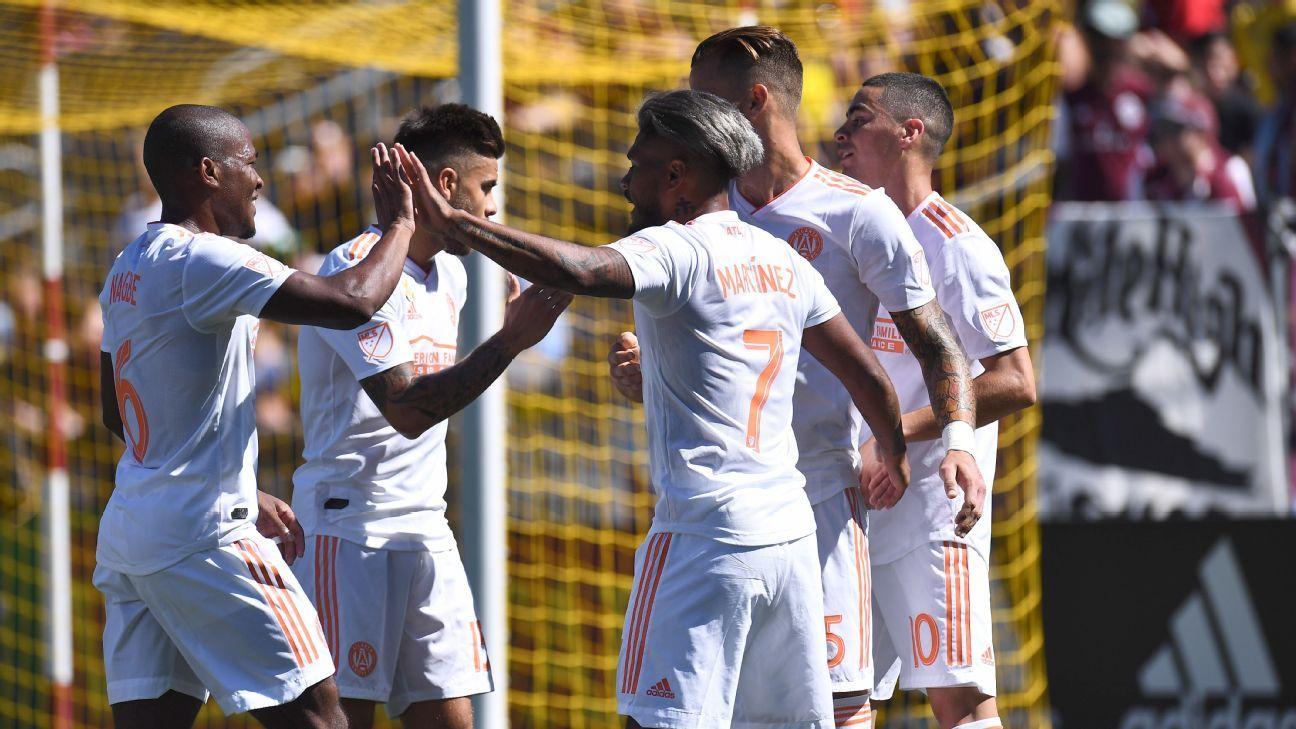 Miguel Almiron's brace helps Atlanta beat Rapids, move to top of East