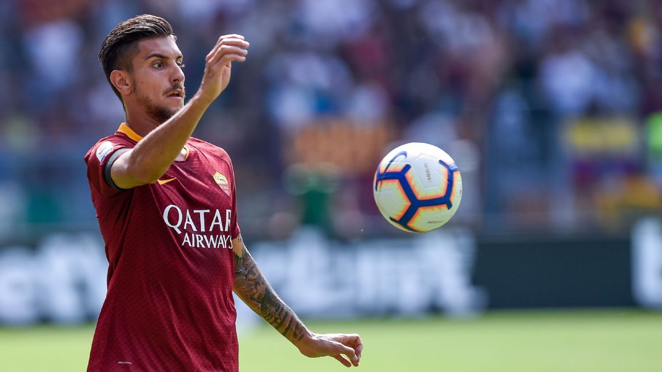Roma's Lorenzo Pellegrini during a Serie A game against Chievo Verona.