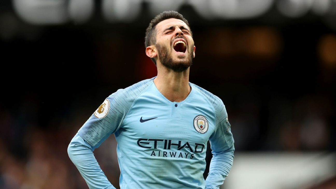 Manchester City's Bernardo Silva during a Premier League game against Fulham.