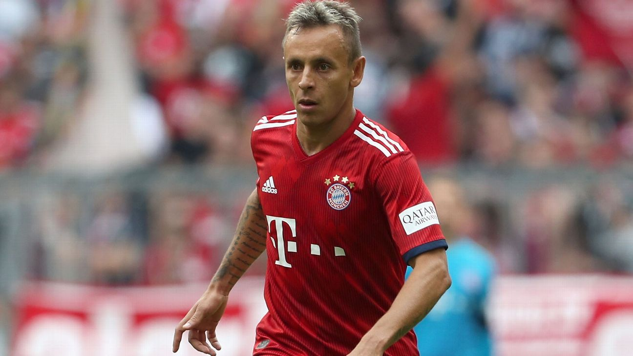 Rafinha was injured as Bayern Munich beat Bayer Leverkusen.